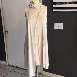 Free people cream sleeveless tunic dress size m